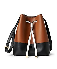 Debby II Leather Drawstring Bag