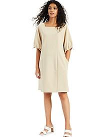 Cinch-Sleeve Dress, Created for Macy's
