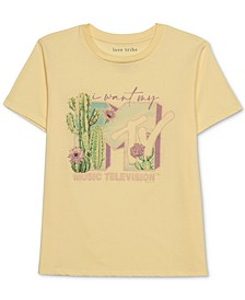 Juniors' MTV Cactus-Graphic T-Shirt