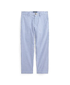 Little Boys Stretch Cotton Seersucker Skinny Pant