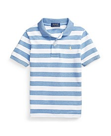 Toddler Boys Striped Cotton Mesh Polo Shirt