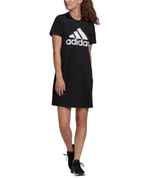 Adidas Originals ADIDAS WOMEN'S LOGO CREWNECK COTTON DRESS