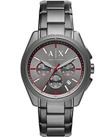AX Men's Chronograph Gunmetal Stainless Steel Bracelet Watch 42mm