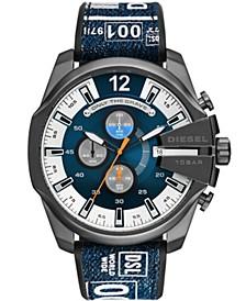 Men's Mega Chief Chronograph Gray Silicone Strap Watch 51mm