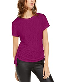 INC Petite Side Ruched T-Shirt, Created for Macy's