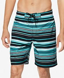 """Men's Stripe Lane Bondi 2-Way Stretch DWR 20"""" Board Shorts"""