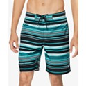 "Speedo Men's Stripe Lane Bondi 2-Way Stretch DWR 20"" Board Shorts"