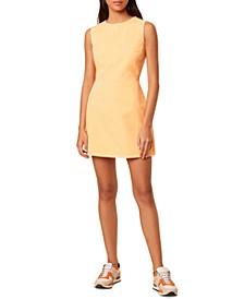 Sekai Neon Denim Sheath Dress