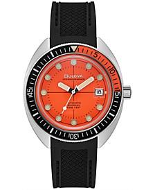 Men's Automatic Oceanographer Black Polyurethane Strap Watch 41mm