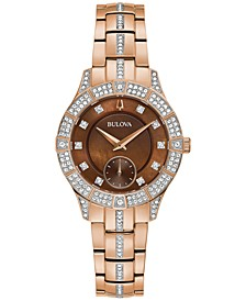 Women's Phantom Crystal & Rose Gold-Tone Stainless Steel Bracelet Watch 31mm