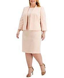 Plus Size Jacket & Sheath Dress Suit
