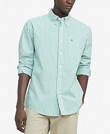Men's Classic-Fit TH Flex Stretch Poplin Lenox Check Shirt