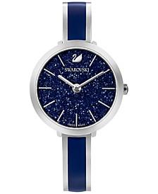 Women's Swiss Crystalline Delight Stainless Steel & Blue Bangle Bracelet Watch 32mm