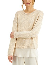 Organic Cotton Drop-Shoulder Sweater