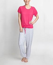 T-Shirt & Printed Pants Pajama Set