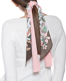 Logo Floral & Solid Twilly Scarf Set
