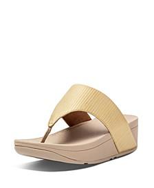 Women's Olive Textured Glitz Toe-Post Sandals