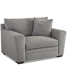 """Loranna 56"""" Fabric Arm Chair, Created for Macy's"""