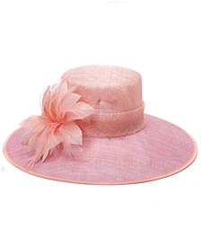 Two-Tone Sinamay Down-Brim Dressy Hat