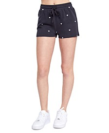 Juniors' Playa Heart-Print Shorts