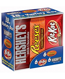 Chocolate Candy Bar Variety Pack Hershey's, Reese's, Kit Kat 18 Count