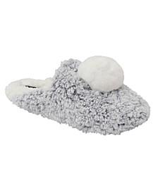 Women's Faux Fur Pom Slipper