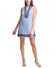Petite Cotton Striped Shift Dress
