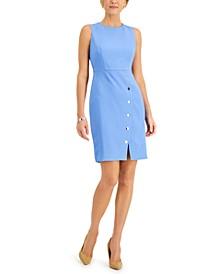 Snap-Skirt Sheath Dress
