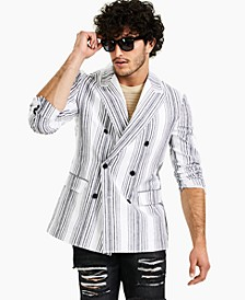 Men's Variegated Striped Blazer, Created for Macy's