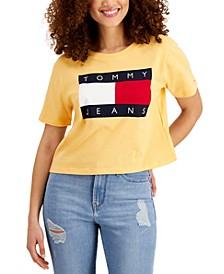 Cotton Flag Logo Cropped T-Shirt