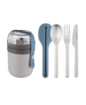 Berghoff LEO TO-GO DUAL LUNCH BOX AND FLATWARE SET