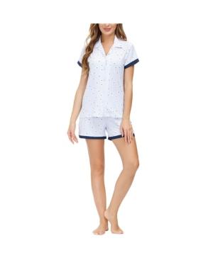 Women's Notch Collar and Short 2pc Pajama Set