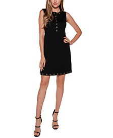 Black Label Embellished Sleeveless Fitted Dress