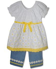 Baby Girls 2-Pc. Tunic & Flare Capri Set