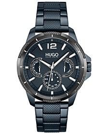 Men's #Sport Blue Stainless Steel Strap Watch 46mm