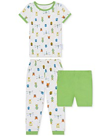 Baby Boys 2-Piece Insect-Print Pajama Set with Shorts