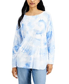 INC Tie-Dye Shirttail Sweater, Created for Macy's