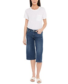 Wide-Leg Pedal Pusher Jeans