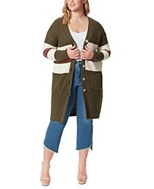 Trendy Plus Size Marina Kalamata Duster Sweater