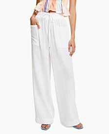 Cotton Wide-Leg Pants, Created for Macy's