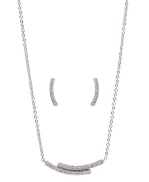 """Pave Earrings & Necklace set. Necklace 16"""" + 2"""" extender"""