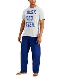 Men's Best Dad Pajama Set, Created for Macy's