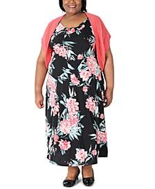 Plus Size Floral Dress & Bolero Jacket