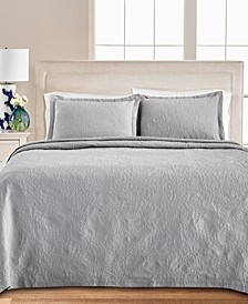 Floral Matelasse 100% Cotton King Bedspread, Created for Macy's