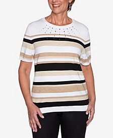 Plus Size Classics S1 Stripe Sweater