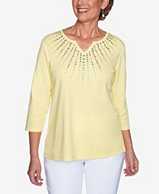 Plus Size Lazy Daisy Sunburst Heat Set Top