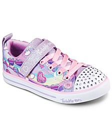 Little Girls Twinkle Toes Sparkle Light- Rainbow Skies Casual Sneakers from Finish Line