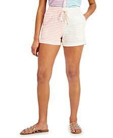 Petite Striped Drawstring Shorts, Created for Macy's