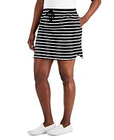 Petite Striped Drawstring Skort, Created for Macy's