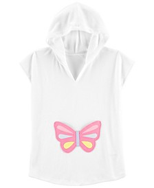 Little Girls Hooded Butterfly Cover Up